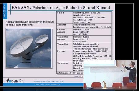"PARSAX radar in ""A short course on radar meteorology"""