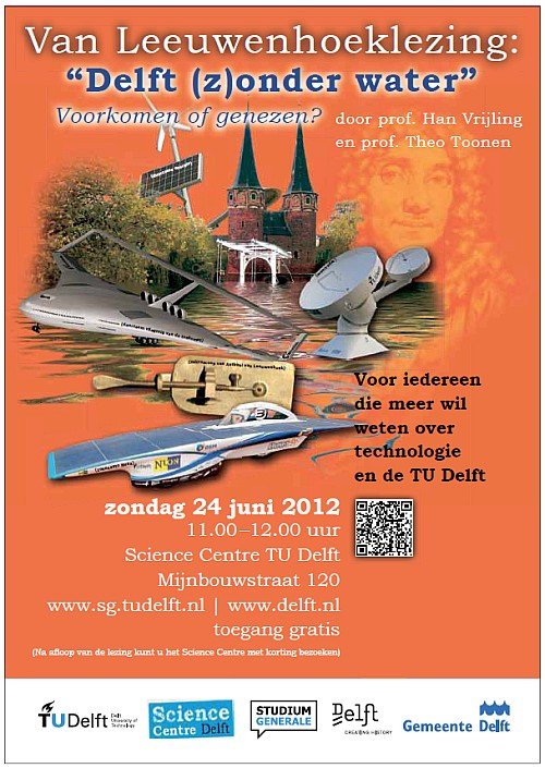 """Delft (z)onder water"" Poster"