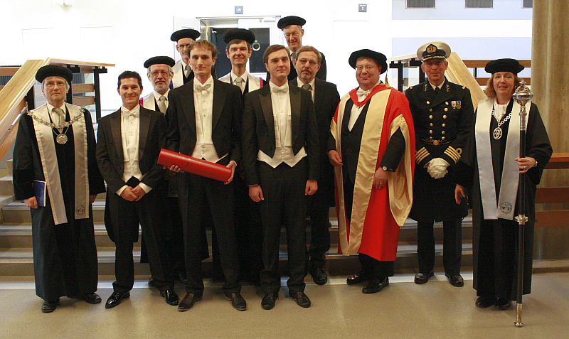 Teun de Groot with Comission after defence of his PhD thesis